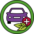 Icon of purple car